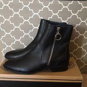 Top shop short boots. Real black leather